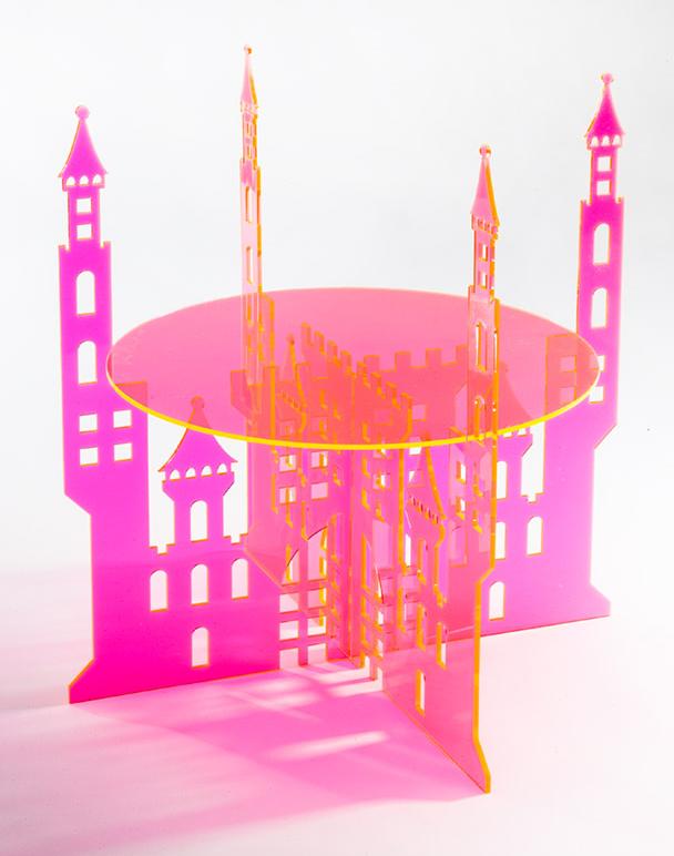 Neon-Castle-Cake-Stand