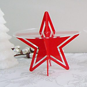 Starry Night Cupcake Stand Red by Sandra Dillon Design