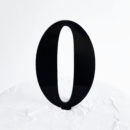 Number 0 Cake Topper Black