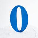 Number 0 Cake Topper Blue