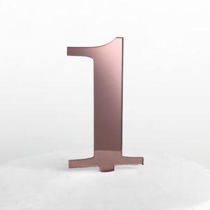 Number 1 Cake Topper in Rose Gold