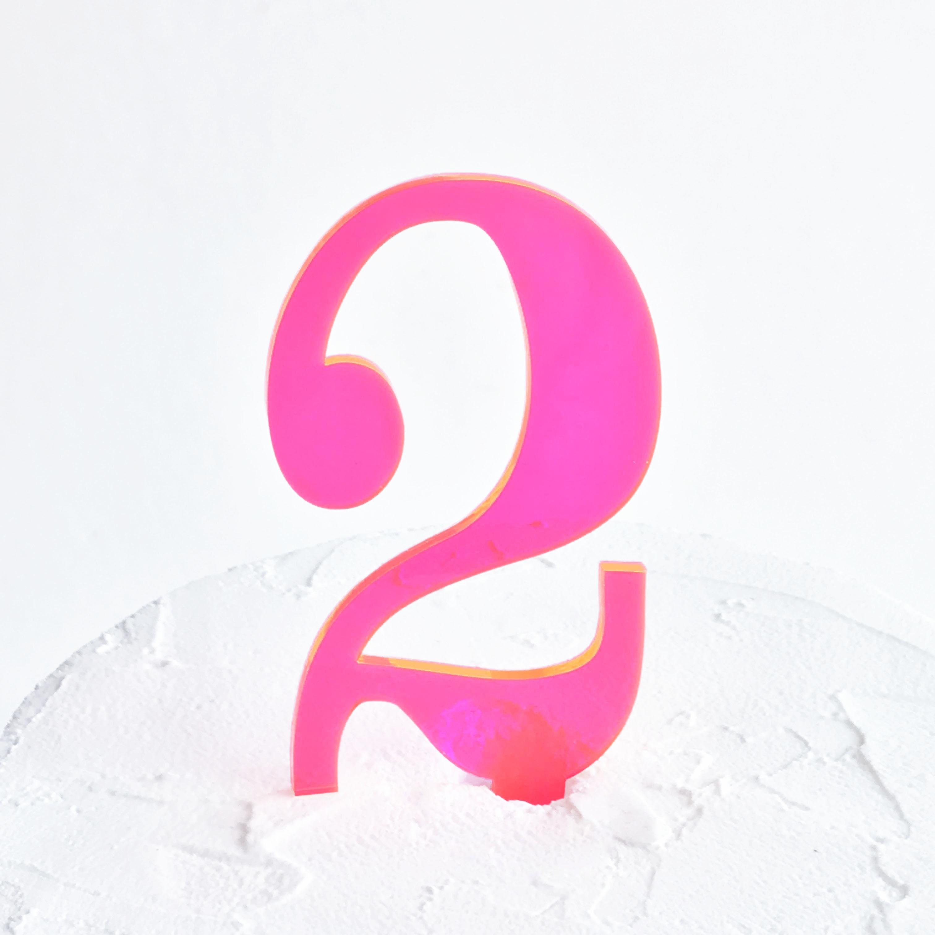 Number 2 Cake Topper | SANDRA DILLON DESIGN