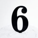 Number 6 Cake Topper Black