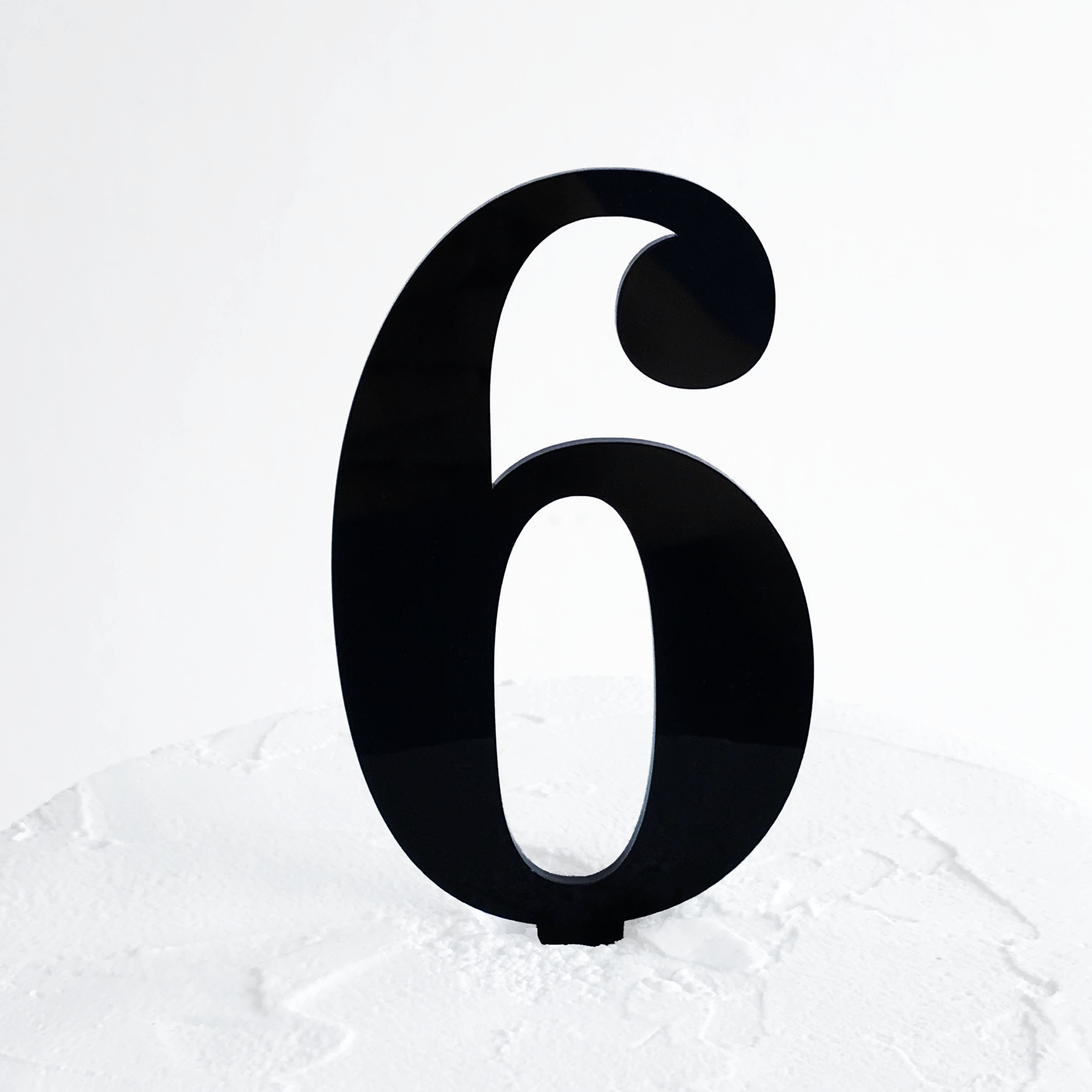 Number 6 Cake Topper