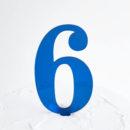 Number 6 Cake Topper Blue