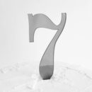 Number 7 Cake Topper Silver