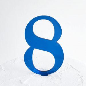 Number 8 Cake Topper Blue