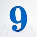 Number 9 Cake Topper Blue