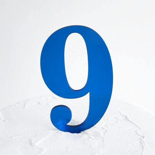 Number 9 Cake Topper Blue