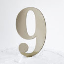 Number 9 Cake Topper Gold