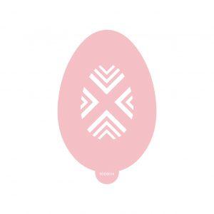 Riser Easter Egg Stencil