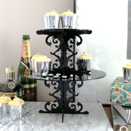 Two Tier Loco Rococo Cupcake Stand by Sandra Dillon
