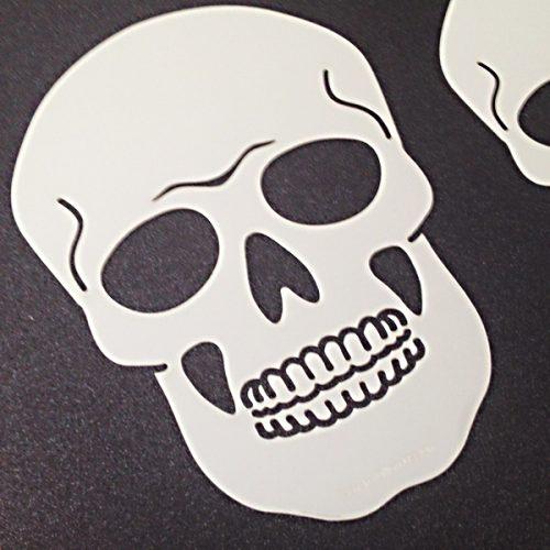 Skull Stencil detail Sandra Dillon Design