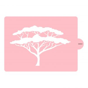 African Canopy Tree Stencil