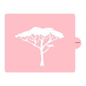 African Tree Stencil