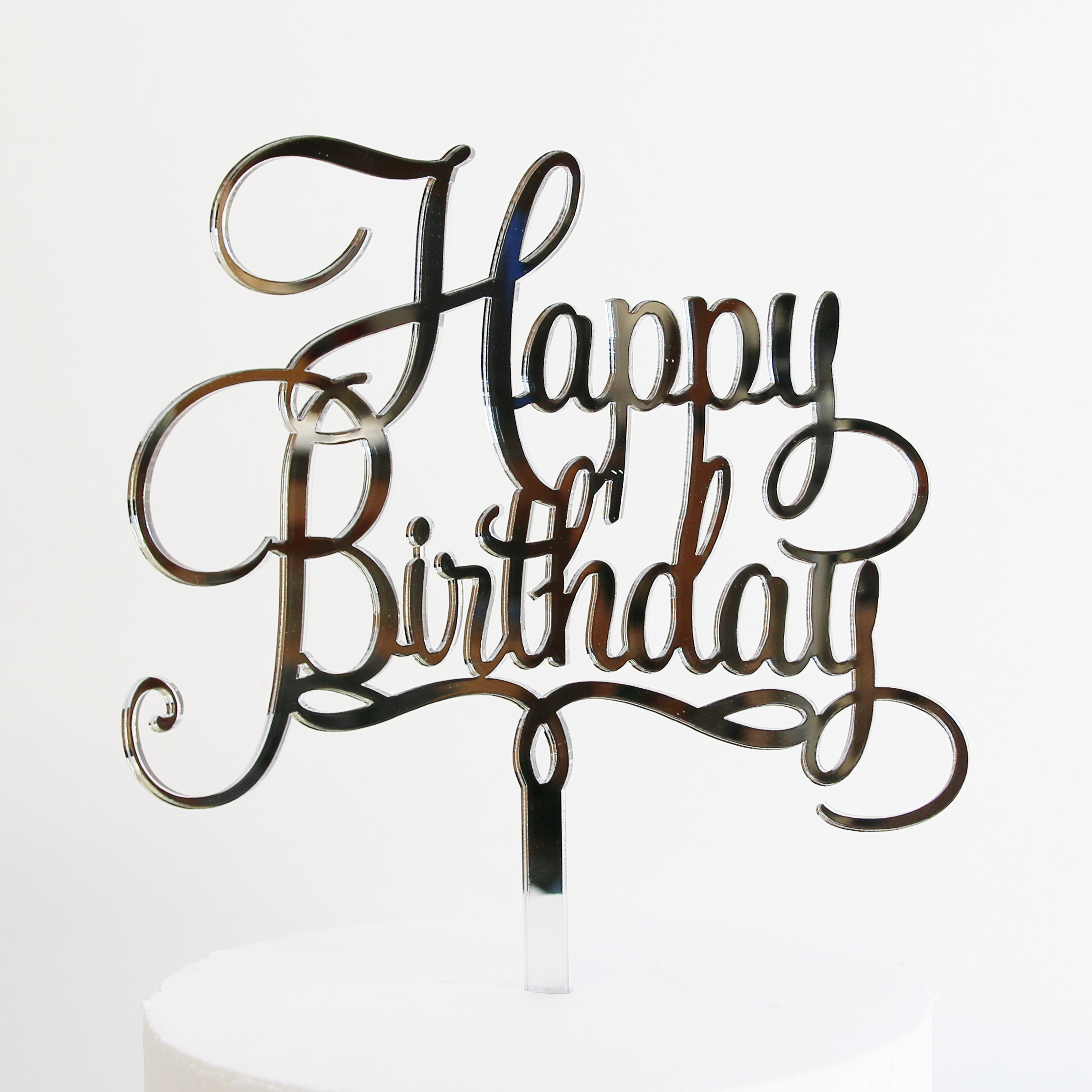 Happy Birthday Cake Topper Vector