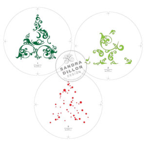 Ornate Tree Multi-Colour Stencil Layers