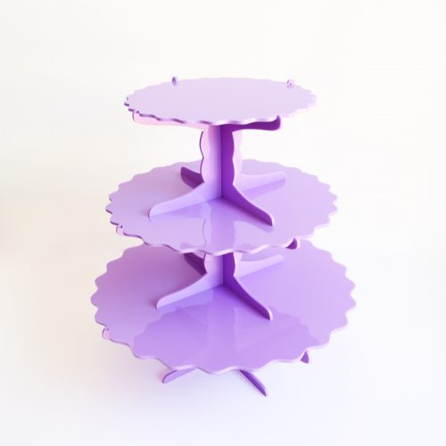 3 Tier Frilly Towers Cupcake Stand