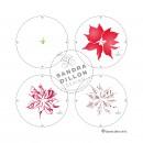 Sandra Dillon Design Christmas Poinsettia Multi-colour Stencil Steps