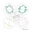 Sandra Dillon Design Christmas Wreath Multi-colour Stencil Steps