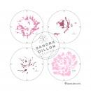 Sandra Dillon Design Vintage Peony Multi-colour Stencil Steps