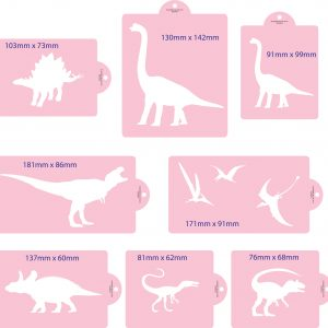 Dinosaur Cake Stencil Set