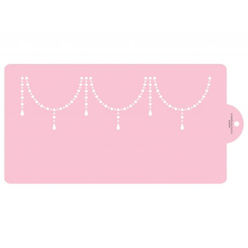 Beaded Swag Cake Side Stencil