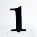 Number 1 Cake Topper Black