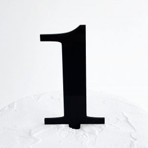 Number 1 Cake Topper Black