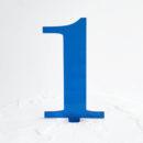 Number 1 Cake Topper Blue