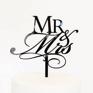 Elegant Mr and Mrs Cake Topper