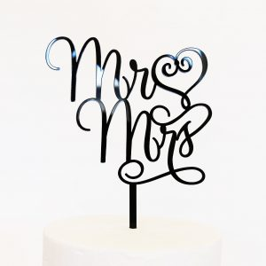 Mr Love Mrs Cake Topper