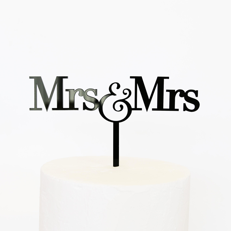 Mrs and Mrs Cake Topper | SANDRA DILLON DESIGN
