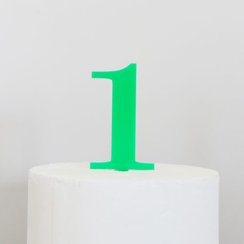 Number 1 Cake Topper Green