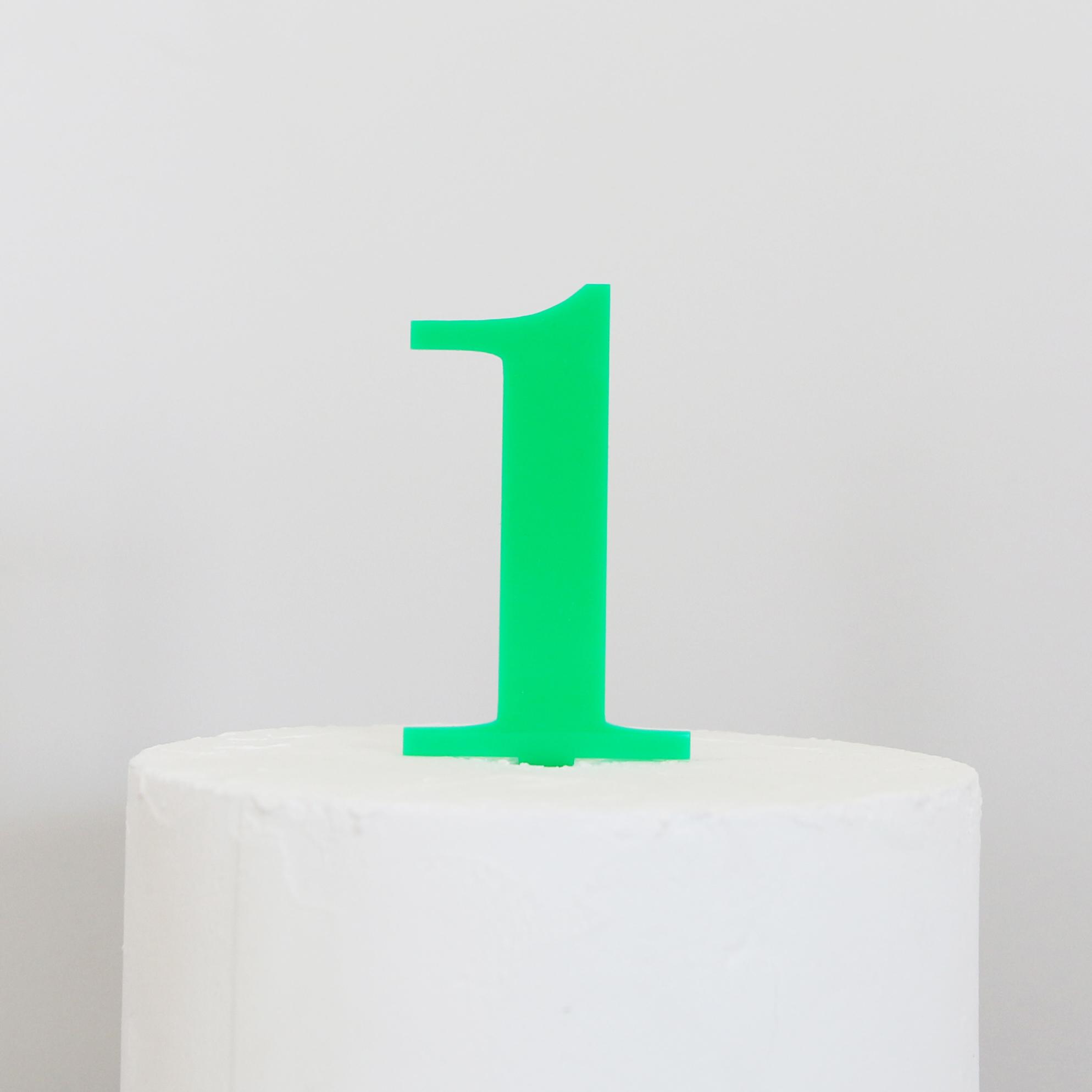 Number 1 Cake Topper | SANDRA DILLON DESIGN