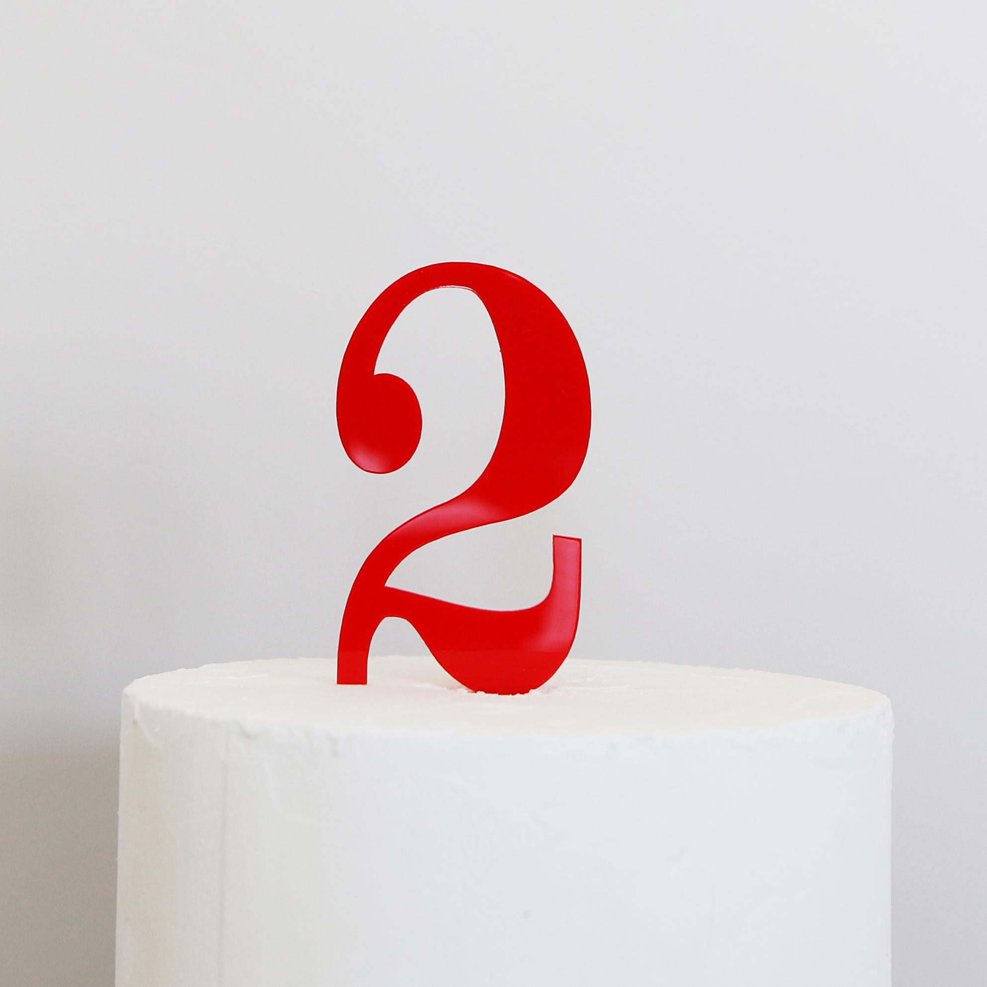 Number 2 Cake Topper   SANDRA DILLON DESIGN