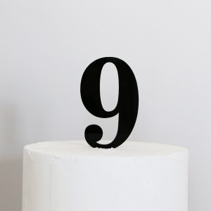 Number 9 Cake Topper Black