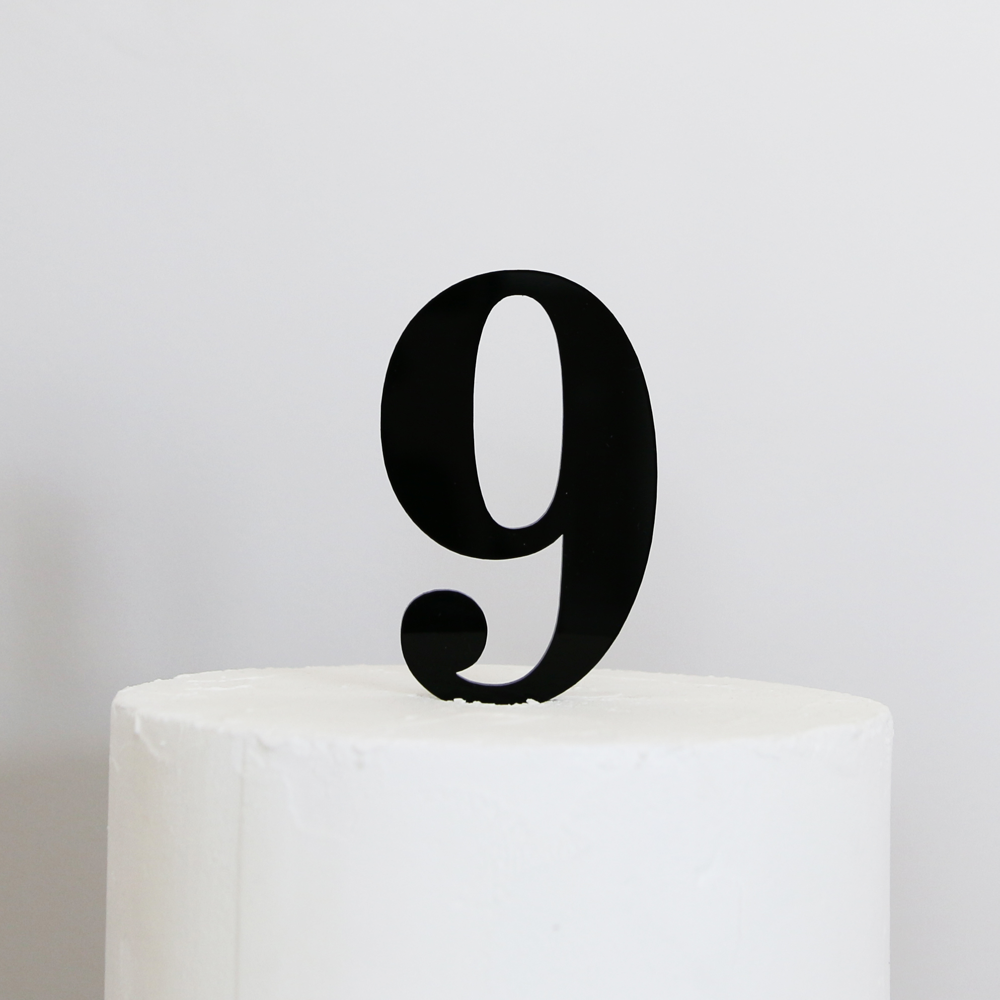 Red Number  Cake Topper