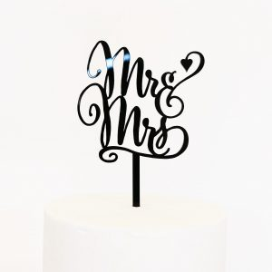 Sweet Mr and Mrs Cake Topper