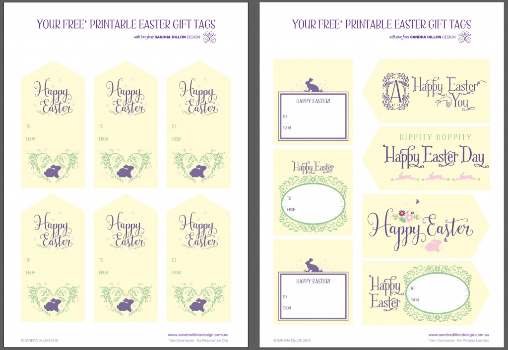 Happy easter gift tags crafthubs easter tags easter gift tags easter basket tags happy free easter printables sandra dillon design negle Choice Image