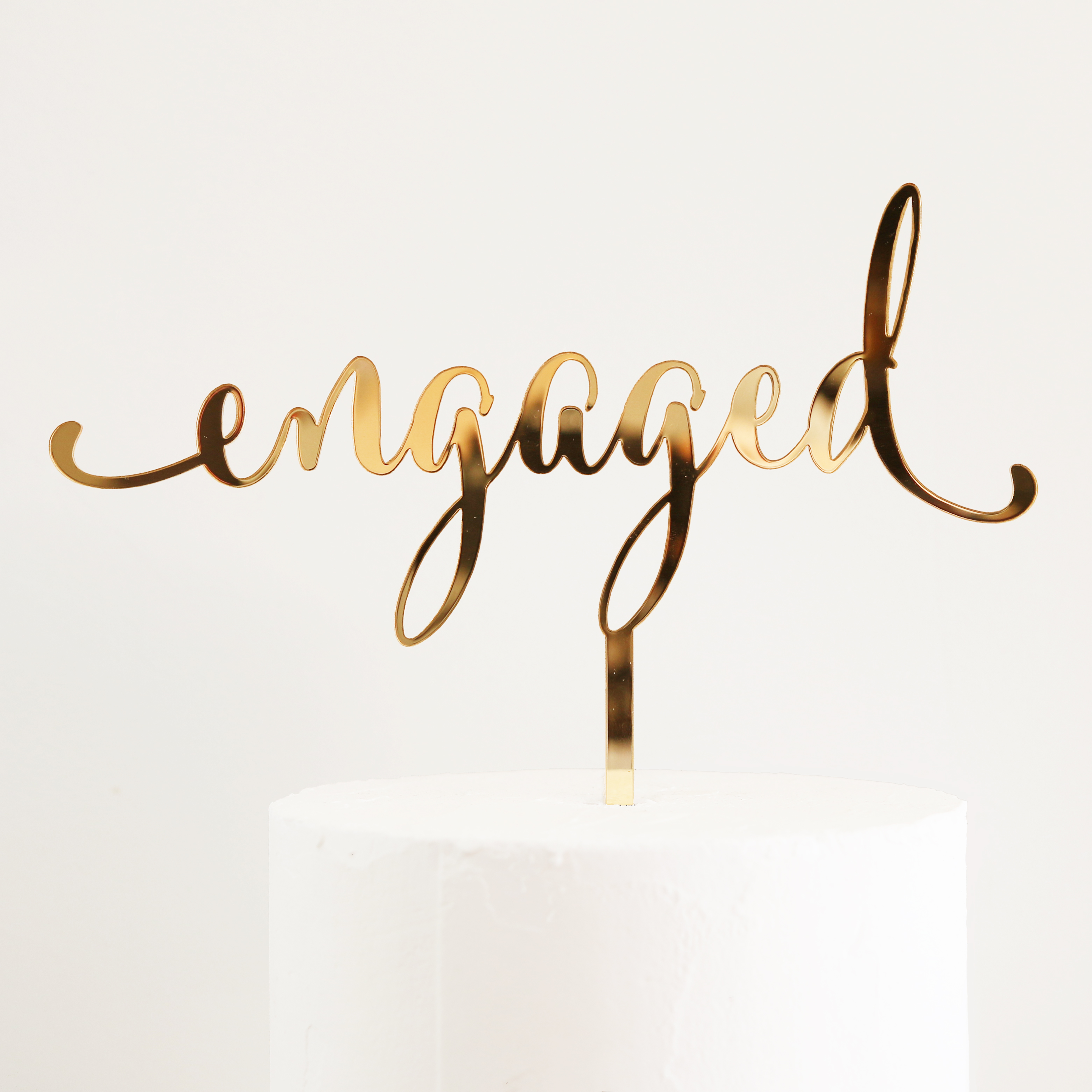 Engaged Cake Topper Sandra Dillon Design