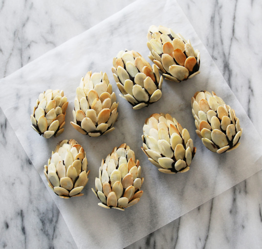 How to Make Chocolate Ganache Pine Cones