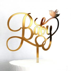 Baby and Bird Cake Topper