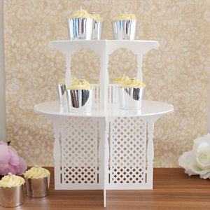 2 Tier Garden Party Cupcake Tower