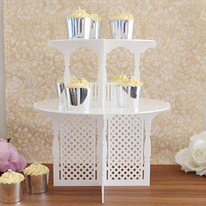 2 Tier Garden Party Cupcake Tower