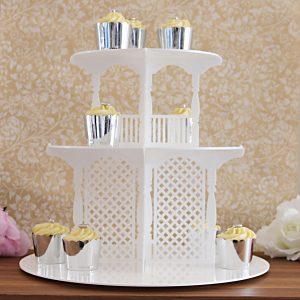 3 Tier Garden Party Cupcake Tower