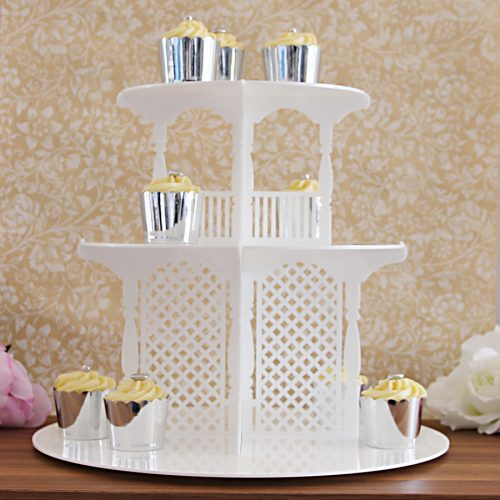 3 Tier Garden Party Cupcake Tower