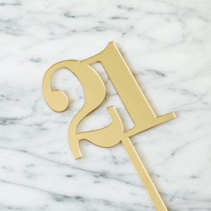 Classic Number Cake Topper 21