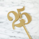 Classic Number Cake Topper 25