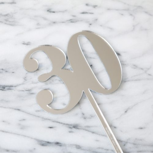 Classic Number Cake Topper 30